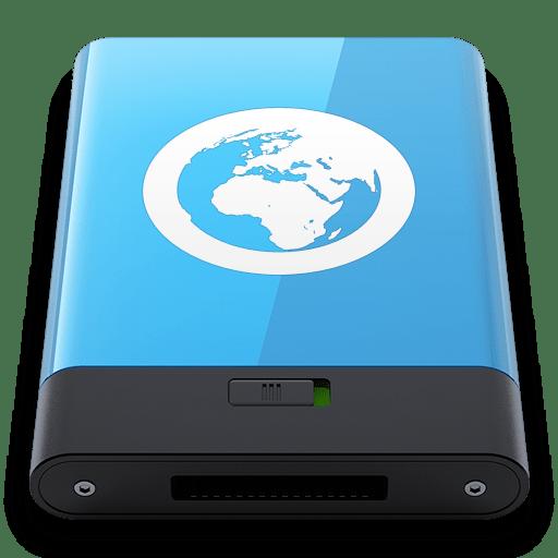 Blue Server W icon