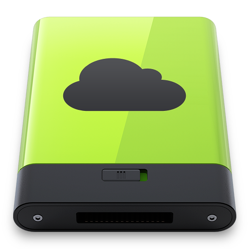 Green-iDisk icon