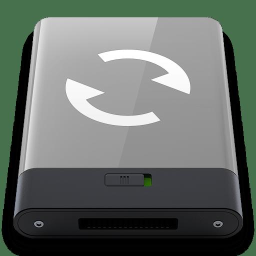Grey Sync W icon
