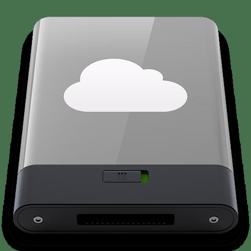 Grey iDisk W icon