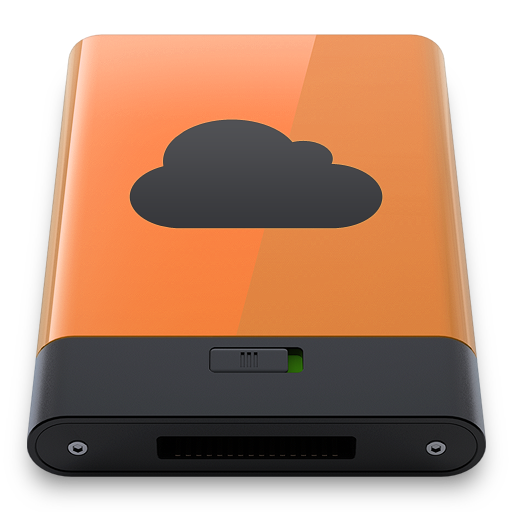 Orange iDisk B icon