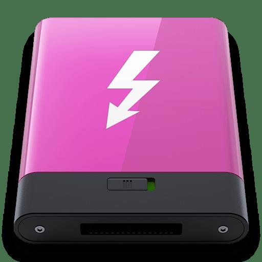 Pink Thunderbolt W icon