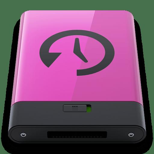 Pink Time Machine B icon