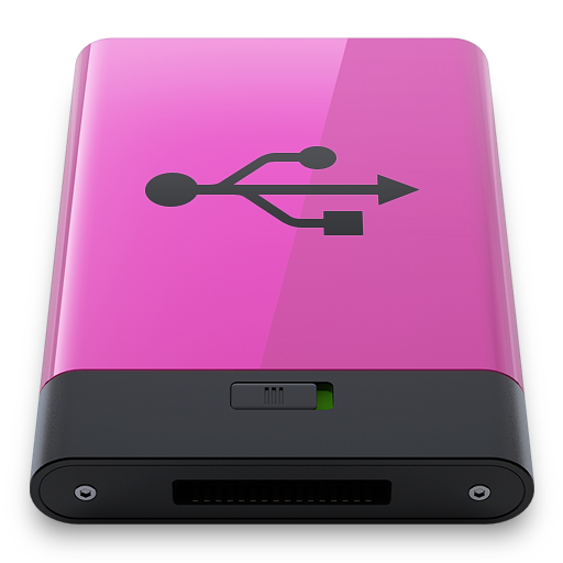 Pink USB B icon