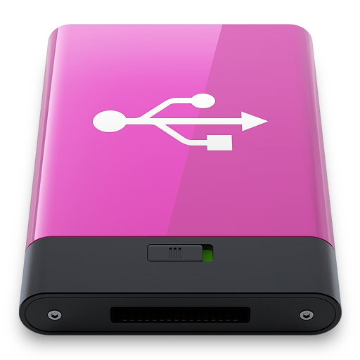 Pink USB W icon