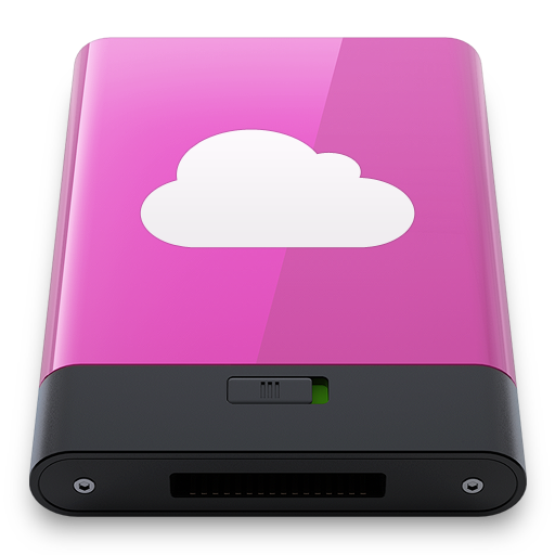 Pink-iDisk-W icon