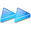 Action-arrow-blue-double-right icon