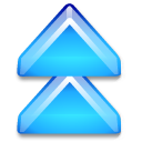 Action-arrow-blue-double-up icon