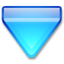Action arrow blue down icon