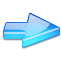 Action arrow blue flat right icon