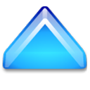 Action-arrow-blue-up icon