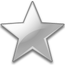 Action bookmark silver icon
