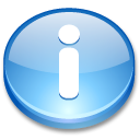 Action button info icon