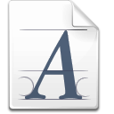 Action fonts icon