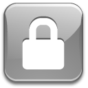 Action lock silver icon
