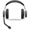 App voice support headset icon