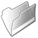 Filesystem folder grey open icon