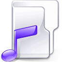Filesystem folder music icon