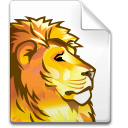 Mimetype dvi lion icon