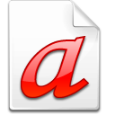 Mimetype font type 1 icon