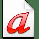 Mimetype font type 1 icon