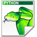 Mimetype source py snake icon