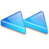 Action-arrow-blue-double-left icon