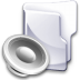 Filesystem-folder-sound icon