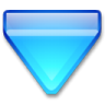 Action-arrow-blue-down icon