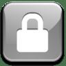 Action-lock-silver icon