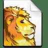Mimetype-dvi-lion icon