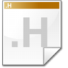Mimetype-source-h icon