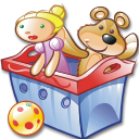 Package toys icon