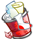 Trashcan-full icon