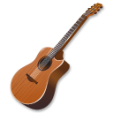wood guitar icon