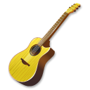 Yellow guitar icon
