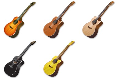 Acoustic Guitar Icons
