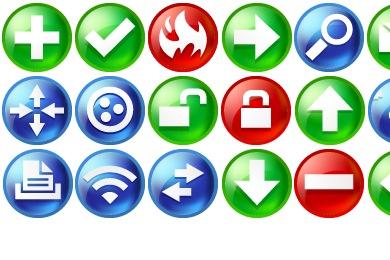 Action Circles Icons