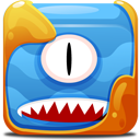 Blue block icon