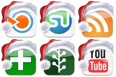 Christmas Social Bookmark Icons