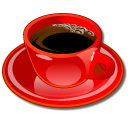 Coffeecup-red icon