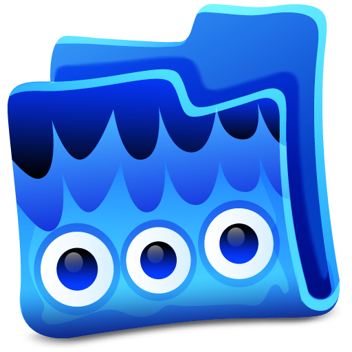 blue folder icon