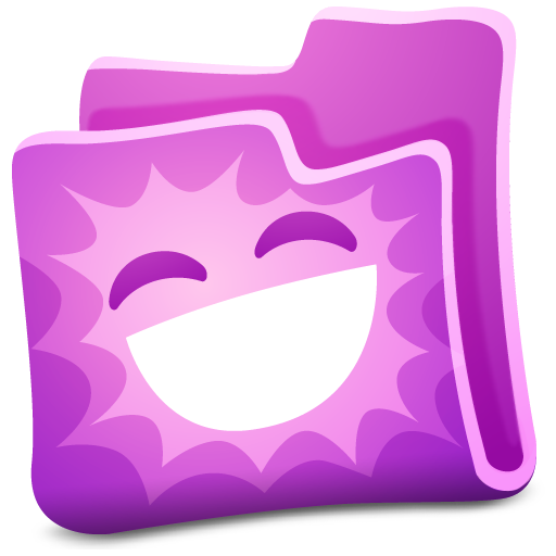 pink folder icon