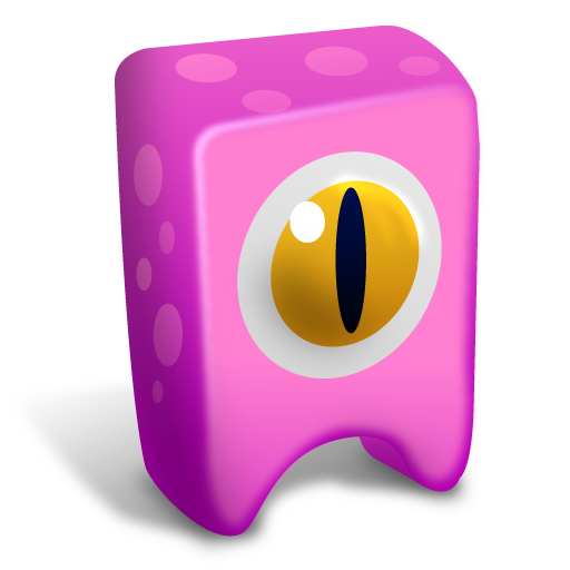 Pink-creature icon