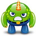 green monster happy icon