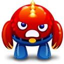 Red monster angry icon