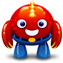 Red monster icon