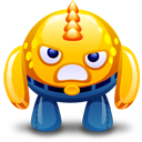 Yellow monster angry icon