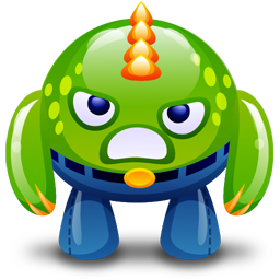 Green monster angry icon