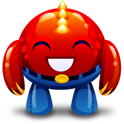 Red monster happy icon